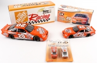 Lot of (3) Tony Stewart #20 Home Depot LE Die Cast Cars with Signed Car (PSA COA)