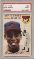 1954 Topps #94 Ernie Banks RC (PSA 7)