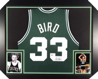 "Larry Bird Signed Celtics 27"" x 33"" Custom Framed Jersey (Beckett Hologram)"