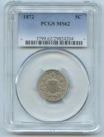 1872 Shield Nickel (PCGS MS 62)
