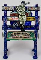 Charles Fazzino Signed Custom Hand-Painted Yankee Stadium Mini Seat (PA LOA)