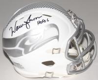 "Warren Moon Signed Seahawks Custom Matte White ICE Speed Mini Helmet Inscribed ""HOF 06"" (Moon Hologram)"