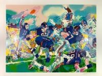 "LeRoy Neiman Signed ""Giants-Broncos Classic"" 35"" x 44"" HC Serigraph (PA LOA)"