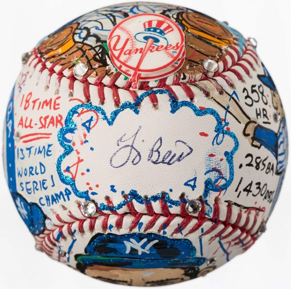 Mickey Mantle Signed Charles Fazzino Custom Hand-Painted