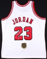 "Michael Jordan Signed Limited Edition Authentic Bulls Jersey Inscribed ""2009 HOF"" with Hall Of Fame Patch #1/123 (UDA COA)"