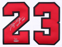 """Michael Jordan Signed Limited Edition Authentic Bulls Jersey Inscribed """"2009 HOF"""" with Hall Of Fame Patch #1/123 (UDA COA) at PristineAuction.com"""