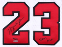 "Michael Jordan Signed LE Authentic Bulls Jersey Inscribed ""2009 HOF"" with Hall Of Fame Patch (UDA COA) at PristineAuction.com"