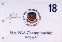Tiger Woods Signed LE 1999 PGA Championship Pin Flag (UDA COA)