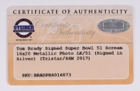 "Tom Brady Signed Patriots Limited Edition ""Super Bowl 51 Scream"" 22"" x 26"" Custom Framed Photo #1/51 (Steiner COA & Tristar Hologram) at PristineAuction.com"