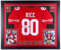 "Jerry Rice Signed 49ers 35"" x 43"" Custom Framed Jersey (JSA COA & GTSM) (Imperfect) at PristineAuction.com"