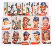 Complete Set of (274) 1953 Topps Baseball Cards with #82 Mickey Mantle, #244 Willie Mays, #1 Jackie Robinson DP, #220 Satchel Paige
