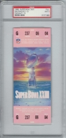 1989 Super Bowl XXIII Full Unused Ticket (PSA 9)