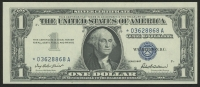 1957 Star Note $1 One-Dollar Blue Seal Silver Certificate at PristineAuction.com