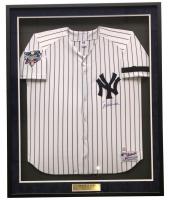 "Derek Jeter Signed Yankees 33"" x 42"" Custom Framed Jersey Display (Steiner COA) at PristineAuction.com"