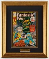 "Stan Lee Signed ""Fantastic Four"" 13.75x 16.75 Custom Framed Comic Book Display (PSA COA)"