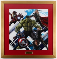"Stan Lee Signed ""The Avengers"" 22.5"" x 24"" Custom Framed Poster Display (JSA COA)"