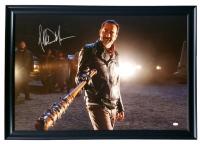 """Jeffrey Dean Signed """"The Walking Dead"""" 27"""" x 38"""" Custom Framed Canvas Display (JSA COA)"""