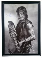 "Norman Reedus  Signed ""The Walking Dead"" 27"" x 38"" Custom Framed Canvas Display (JSA COA)"