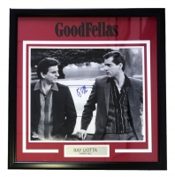 "Ray Liotta Signed ""Goodfellas"" 27"" x 28"" Custom framed Photo Display (PSA COA)"
