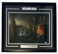 "Jeffrey Dean Morgan Signed ""The Walking Dead"" 25x27 Custom Framed Photo Display (JSA COA) at PristineAuction.com"