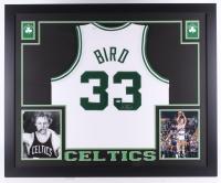 """Larry Bird Signed Celtics 35"""" x 43"""" Custom Framed Jersey (Beckett COA)"""