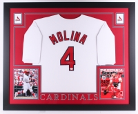 "Yadier Molina Signed Cardinals 35"" x 43"" Custom Framed Jersey (JSA COA) at PristineAuction.com"
