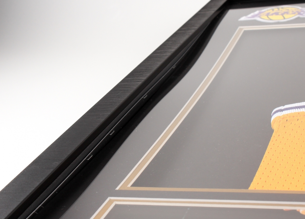 d0458a64ee0 Magic Johnson Signed Lakers 33.75x37.75x2 Custom Framed Jersey Shadowbox  Display (PSA COA