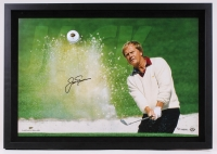 "Jack Nicklaus Signed LE 27.25"" x 19.25""x1.25 Custom Framed Photo Shadowbox Display with Golf Ball (UDA COA)"