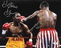 """Sugar Ray Leonard & Tommy """"Hitman"""" Hearns Signed 11x14 Photo (PSA COA)"""