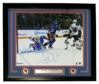 Henrik Lundqvist Signed New York Rangers 22x27 Custom Framed Photo Display (Steiner COA)