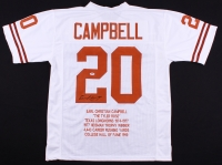 Earl Campbell Signed Texas Longhorns Career Highlight Stat Jersey (PSA COA)