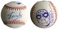 Stan Lee & Michael Golden Signed OML Baseball with Hand-Drawn Sketch of Spider-Man (JSA COA)