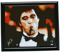 "Al Pacino Signed ""Scarface"" 22"" x 25"" Custom Framed Canvas Display (PSA Hologram)"