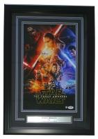 "Daisy Ridley Signed Star Wars ""The Force Awakens"" 16"" x 23"" Custom Framed Movie Poster Display (PSA & Steiner COA)"