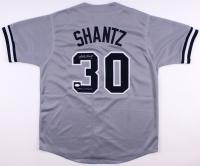 "Bobby Shantz Signed Yankees Jersey Inscribed ""1958 W.S. Champs"" (JSA COA)"