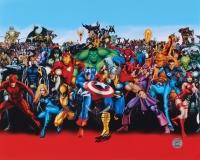 """Stan Lee Signed """"Marvel Universe"""" 16x20 Photo (Lee Hologram)"""