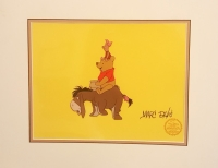 """Marc Davis Signed """"Winnie the Pooh and the Blustery Day"""" Walt Disney LE Animation Matted Serigraph Cel"""