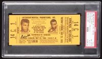 Muhammad Ali Signed Original 1965 Heavyweight Championship Title Bout Ticket (PSA Encapsulated & Autograph Graded PSA 10)