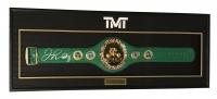 "Floyd Mayweather Jr. Signed 21"" x 58"" x 4"" Boxing Championshp Belt Shadowbox (Beckett COA)"