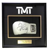 "Floyd Mayweather Jr. Signed ""The Money Team"" 18x19x4 Custom Framed Boxing Glove Shadowbox Display (Beckett COA)"