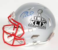 Tom Brady Signed Patriots Full-Size Authentic Pro-Line Super Bowl XLIX Logo Speed Helmet (Steiner COA & TriStar)