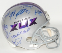 Super Bowl XLIX Full-Size Helmet Team-Signed by (15) with Tom Brady, Rob Gronkowski, Malcolm Butler, Timothy Wright (Fanatics COA & TriStar COA)