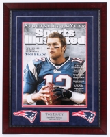"Tom Brady Signed Patriots 23"" x 29"" Custom Framed Photo Display (Steiner COA & TriStar)"
