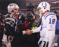 Tom Brady & Peyton Manning Signed 16x20 Photo (TriStar & Steiner COA)