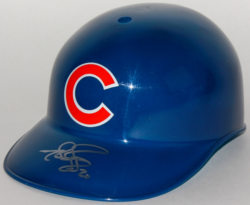 Cubs batting helmet with hands