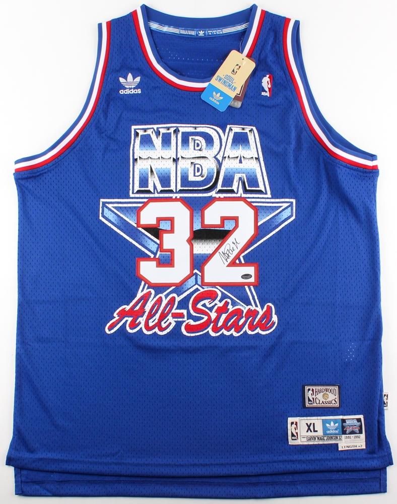 0da7d51f1 Magic Johnson Signed 1992 NBA All-Star Jersey (Schwartz COA)