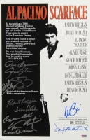 """Scarface"" 11"" x 17"" Movie Poster Signed by (11) With Al Pacino, Pepe Serna, Geno Silva, Steven Bauer, Dennis Holahan (PSA LOA)"