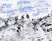 Iwo Jima Veterans 8x10 Photo Aigned by (10) with Herschel Williams, Gene Iaconetti, Leo Ehli, Robert Galloway, Everett Hampton (PSA LOA)
