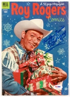"Roy Rogers Signed 1953 #61 Dell Comic Book Inscribed ""Happy Trails"" (PSA COA)"