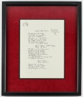 "John Lennon ""Cleanup Time"" 17"" x 20"" Custom Framed Limited Edition Lyrics Serigraph"